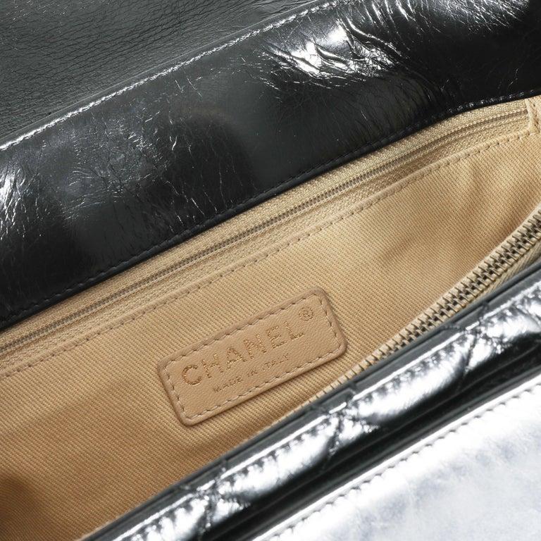 Chanel Black Quilted Boy Front Pocket Shopping Bag For Sale 2