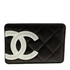 Chanel Black Quilted Cambon Ligne Leather Card Holder