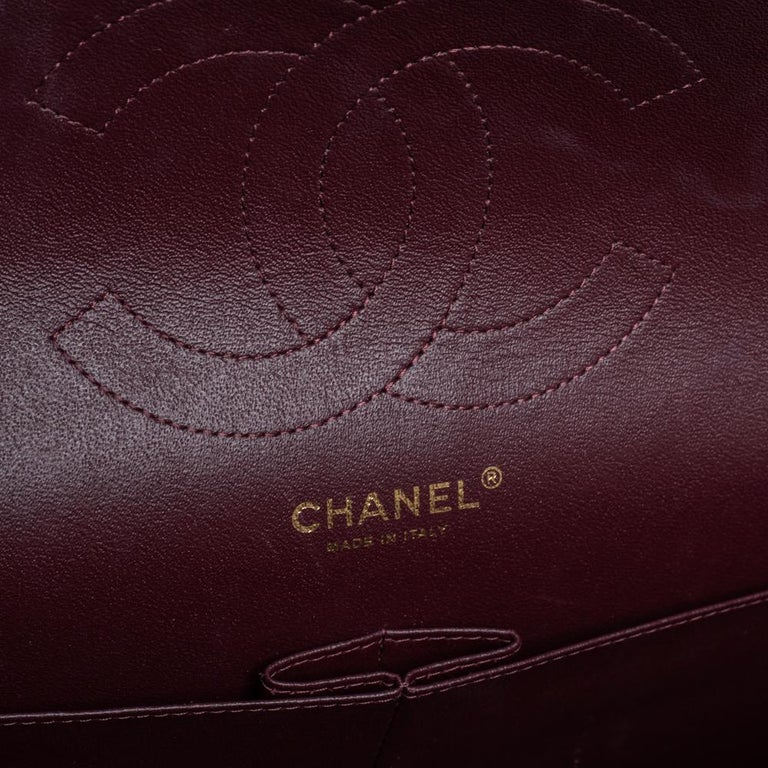 Chanel Black Quilted Caviar Leather Jumbo Classic Double Flap Bag For Sale 1