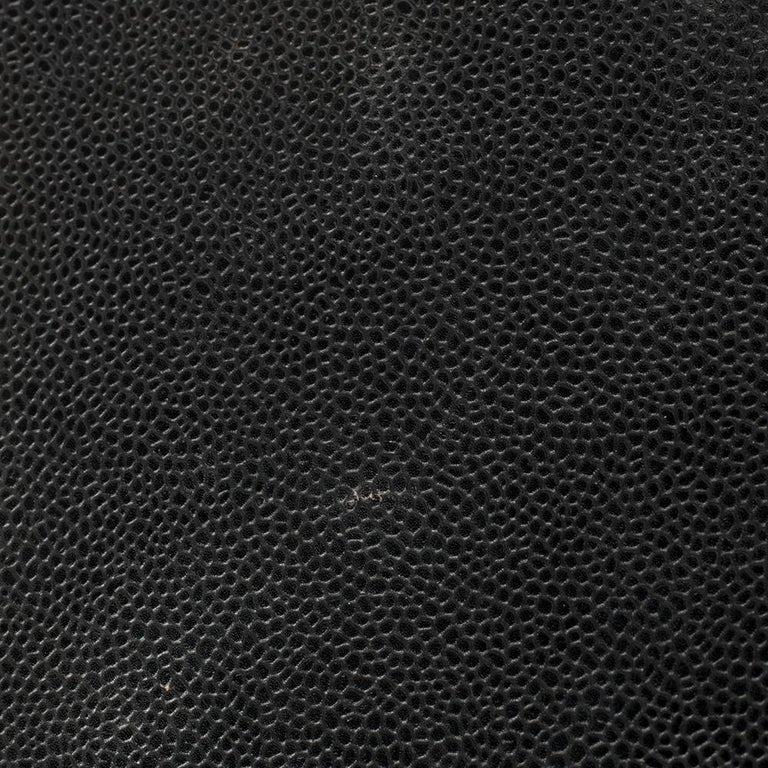 Chanel Black Quilted Caviar Leather Maxi Classic Single Flap Bag 7