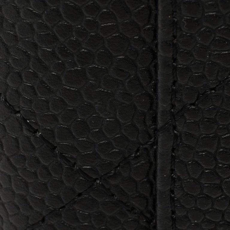 Chanel Black Quilted Caviar Leather Maxi Classic Single Flap Bag 2