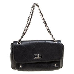 Chanel Black Quilted Caviar Leather Reissue Shoulder Bag