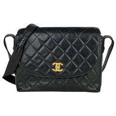 Chanel Black Quilted CC Flap Bag