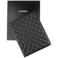 Chanel Black Quilted Ipad Case