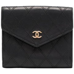 Chanel Black Quilted Lamb Wallet