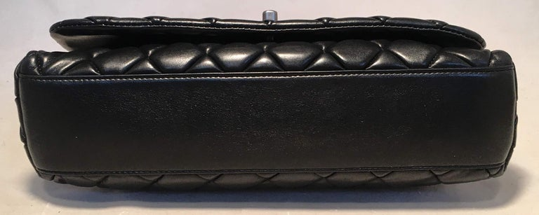 Women's Chanel Black Quilted Lambskin Classic Flap Maxi Shoulder Bag For Sale