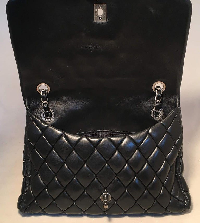 Chanel Black Quilted Lambskin Classic Flap Maxi Shoulder Bag For Sale 2