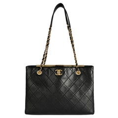 Chanel Black Quilted Lambskin Large Shopping Bag