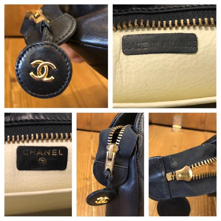 CHANEL Black Quilted Lambskin Leather Clutch Bag For Sale 2