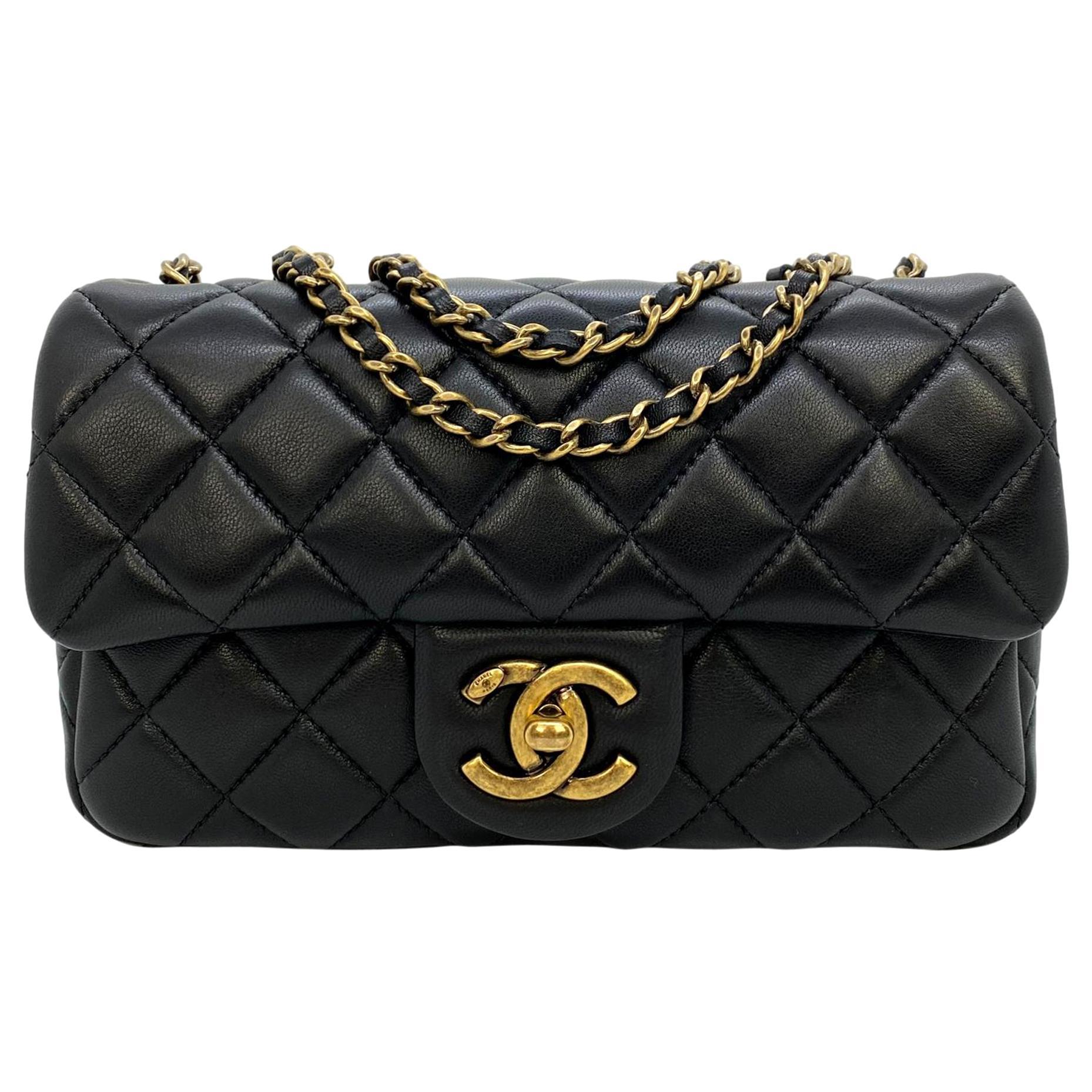 """Chanel Black Quilted Lambskin Minaudières Runway """"Meat Package"""" Flap Bag, 2014."""