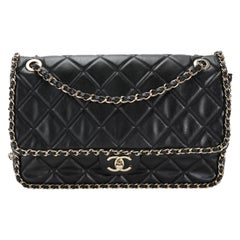 Chanel Black Quilted Lambskin Running Chain Flap Bag