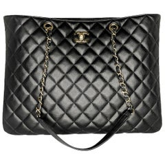 Chanel Black Quilted Lambskin Timeless Tote