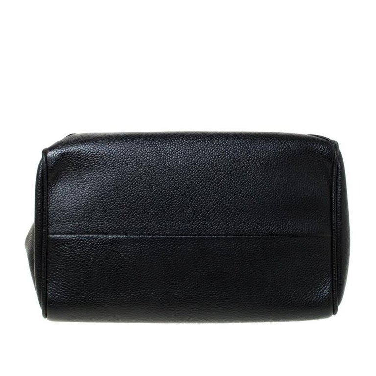 Chanel Black Quilted Leather Accordion Push Lock Flap Bag 6