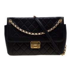 Chanel Black Quilted Leather Chic With Me Large Flap Shoulder Bag