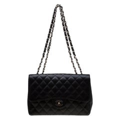 Chanel Black Quilted Leather Classic Single Flap Bag