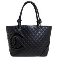 Chanel Black Quilted Leather Large Ligne Cambon Tote