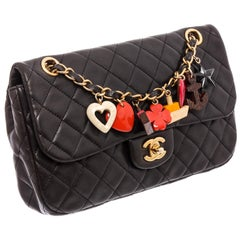 Chanel Black Quilted Leather Medium Marine Charms Flap Bag