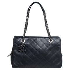 Chanel Black Quilted Leather New Chic Bag