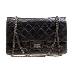 Chanel Black Quilted Leather Reissue 2.55 Classic 227 Flap Bag