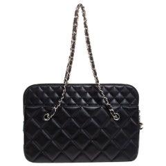 Chanel Black Quilted Leather Shoulder Bag
