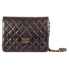 Chanel Black Quilted Leather Small Vintage Classic Single Flap Bag