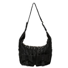 Chanel Black Quilted Nylon Double Pocket Messenger