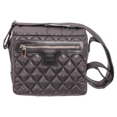 Chanel Black Quilted Nylon Medium Coco Cocoon Messenger Bag