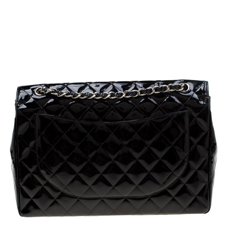 The Chanel Classic single flap Bag is surely one of the most important accessories in the history of fashion. Crafted from the signature quilted patent leather, it is designed like a small briefcase to house all your essentials in an organized way.