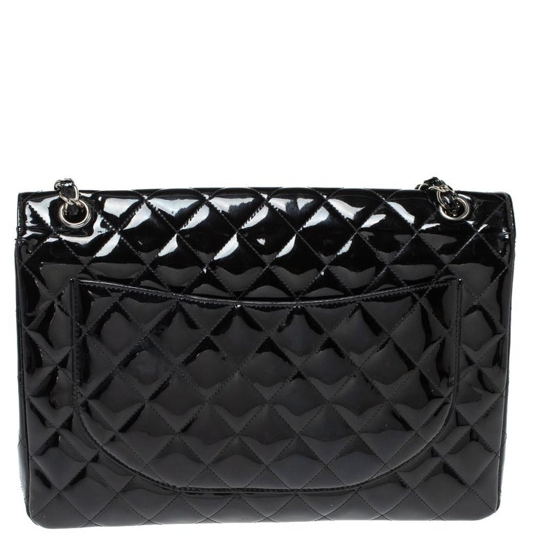 We are in utter awe of this flap bag from Chanel as it is appealing in a surreal way. Exquisitely crafted from patent leather in their quilt design, it bears their signature label on the leather interior and the iconic CC turn-lock on the flap. The