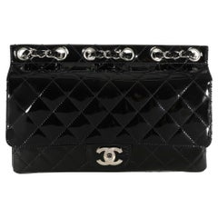 Chanel Black Quilted Patent Leather Supermodel Flap Bag