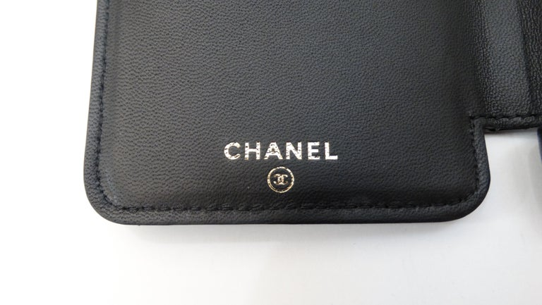 Women's or Men's Chanel Black Quilted Rare Casino IPhone 7/8 Plus Wallet Case  For Sale