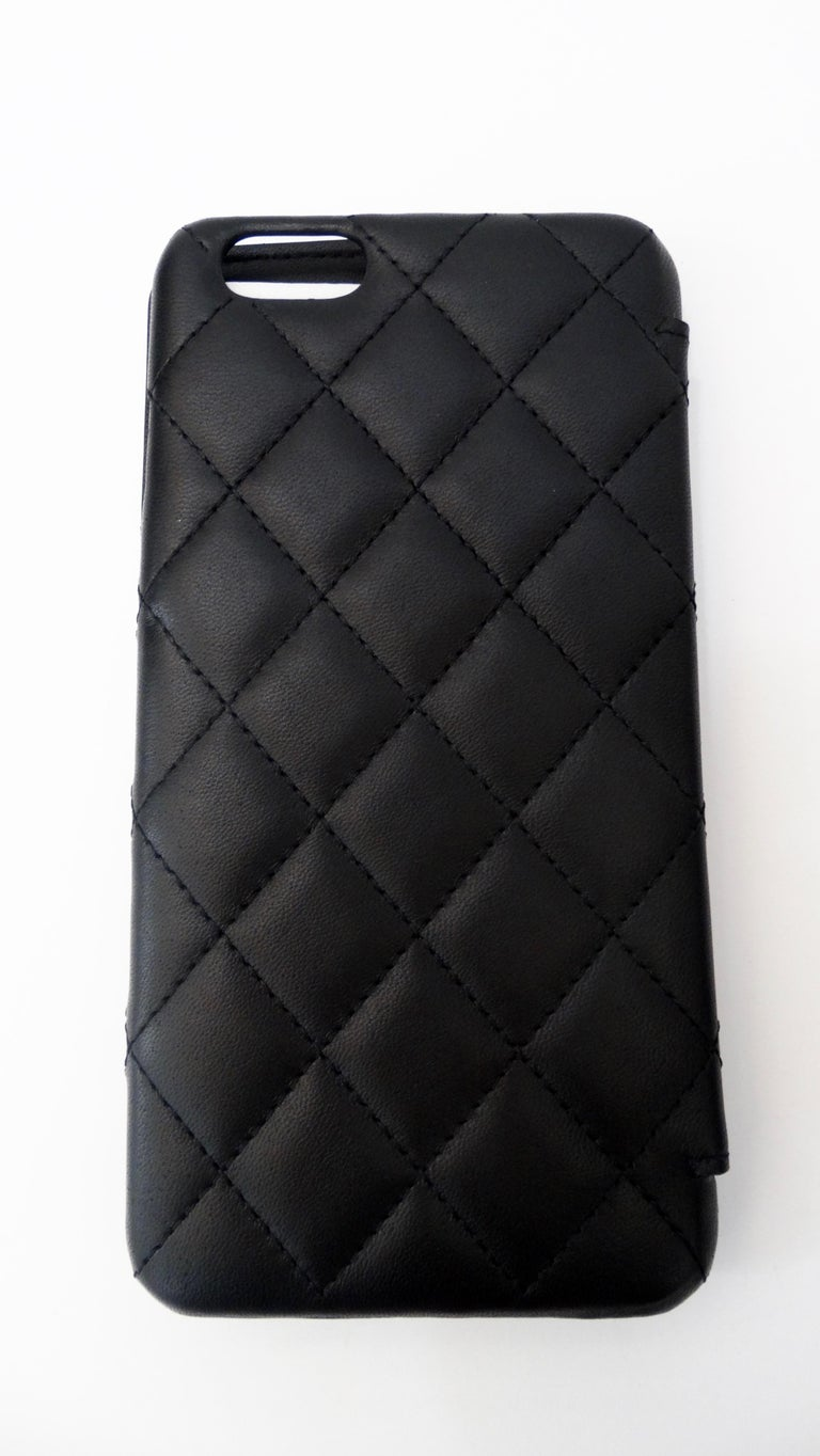 Chanel Black Quilted Rare Casino IPhone 7/8 Plus Wallet Case  For Sale 1