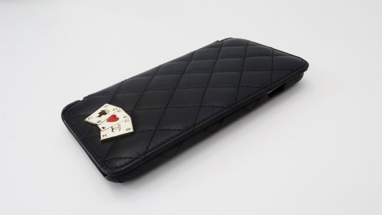 Chanel Black Quilted Rare Casino IPhone 7/8 Plus Wallet Case  For Sale 3