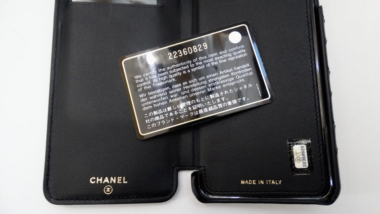 Chanel Black Quilted Rare Casino IPhone 7/8 Plus Wallet Case  For Sale 4