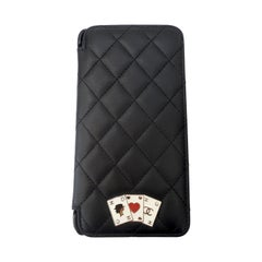 Chanel Black Quilted Rare Casino IPhone 7/8 Plus Wallet Case