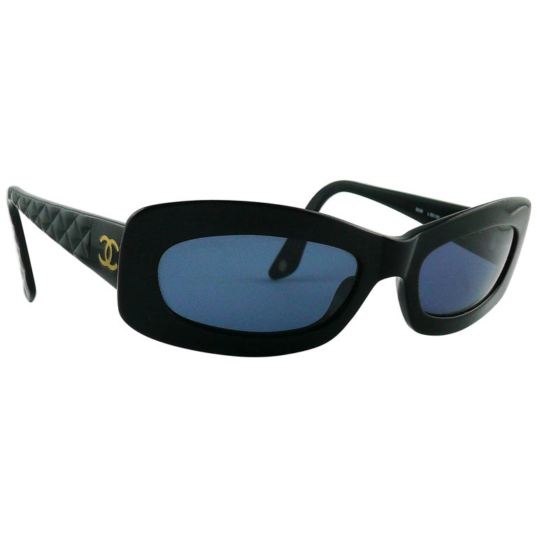 95864db93dc Chanel Black Quilted Sunglasses Mod. 5006 For Sale at 1stdibs