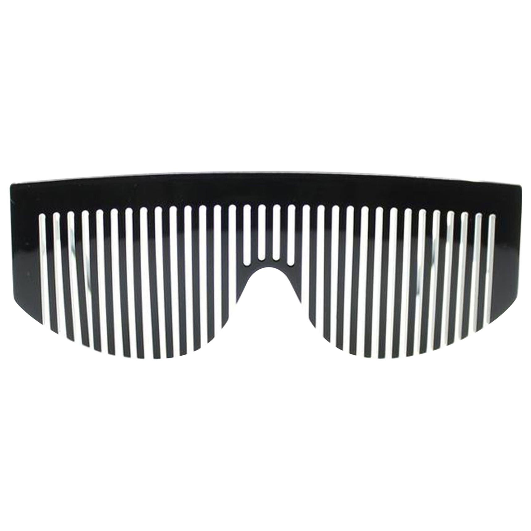 Chanel Black Rare Vintage 90's Runway Limited Edition Collectors Sunglasses
