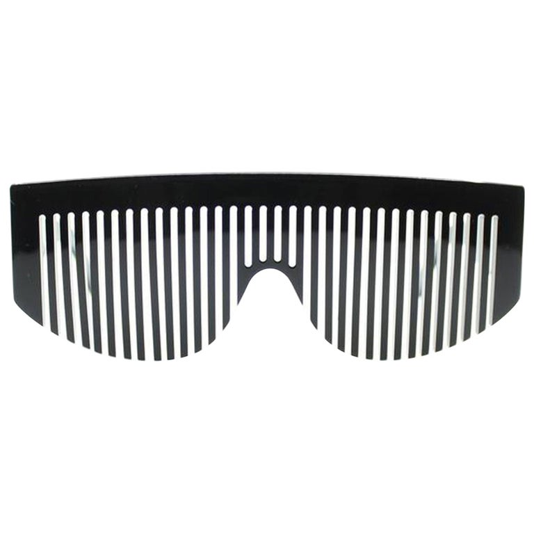 Chanel Black Rare Vintage 90's Runway Limited Edition Collectors Sunglasses For Sale