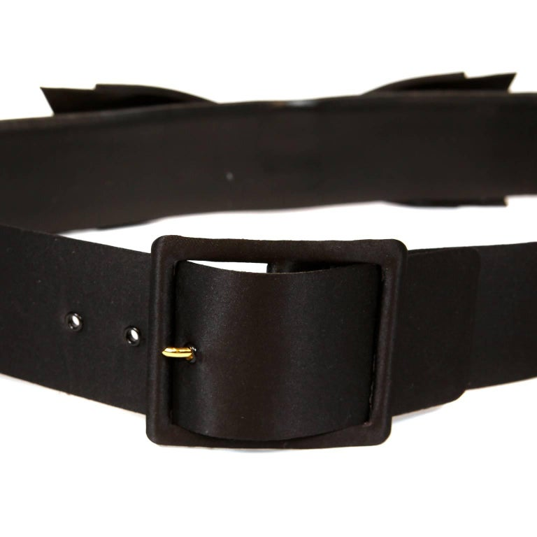 Chanel Black Satin Bow Belt 85/34 In Excellent Condition For Sale In Palm Beach, FL