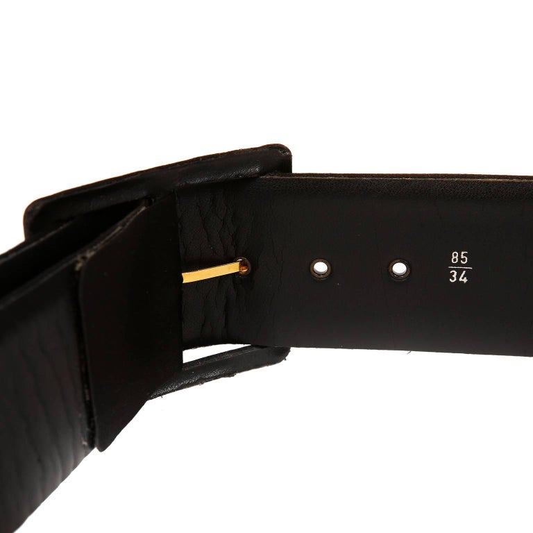 Women's Chanel Black Satin Bow Belt 85/34 For Sale