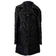 Chanel Black Shiny Tweed Vest