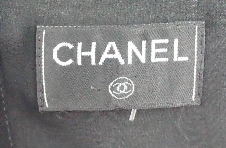 b16eaac720882 Chanel Black Silk Chiffon Sequin Sleeveless Top For Sale at 1stdibs