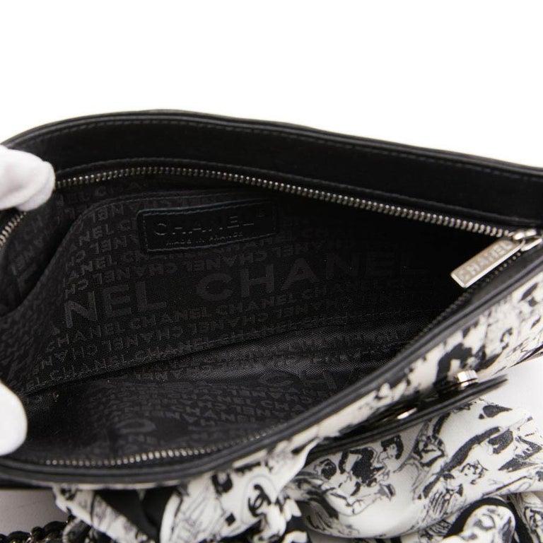 CHANEL Black Silk Clutch Coco Chanel Bag  For Sale 8