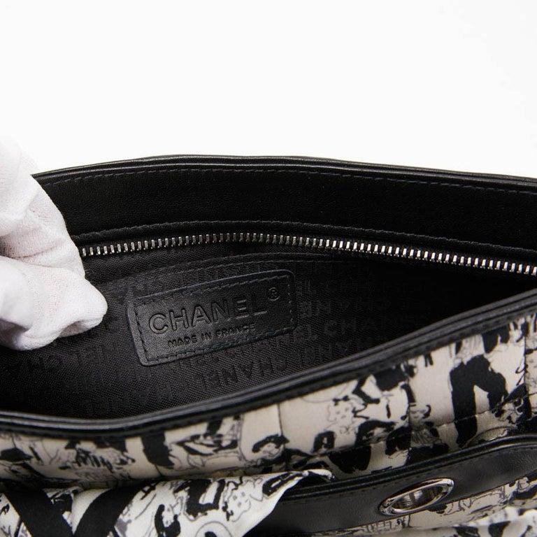CHANEL Black Silk Clutch Coco Chanel Bag  For Sale 9