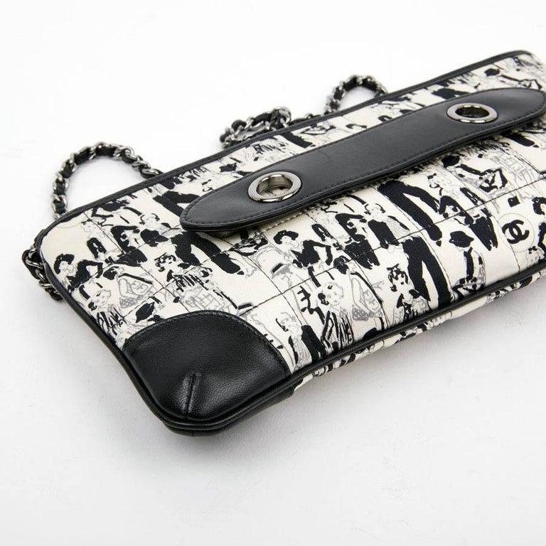 CHANEL Black Silk Clutch Coco Chanel Bag  For Sale 5