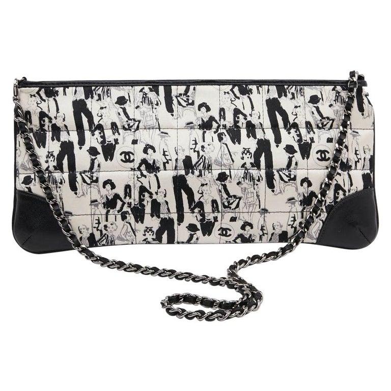 CHANEL Black Silk Clutch Coco Chanel Bag  For Sale