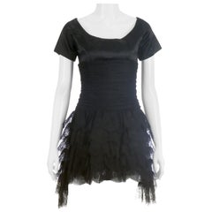 Chanel Black Silk & Lace Mini Dress Cocktail Dress