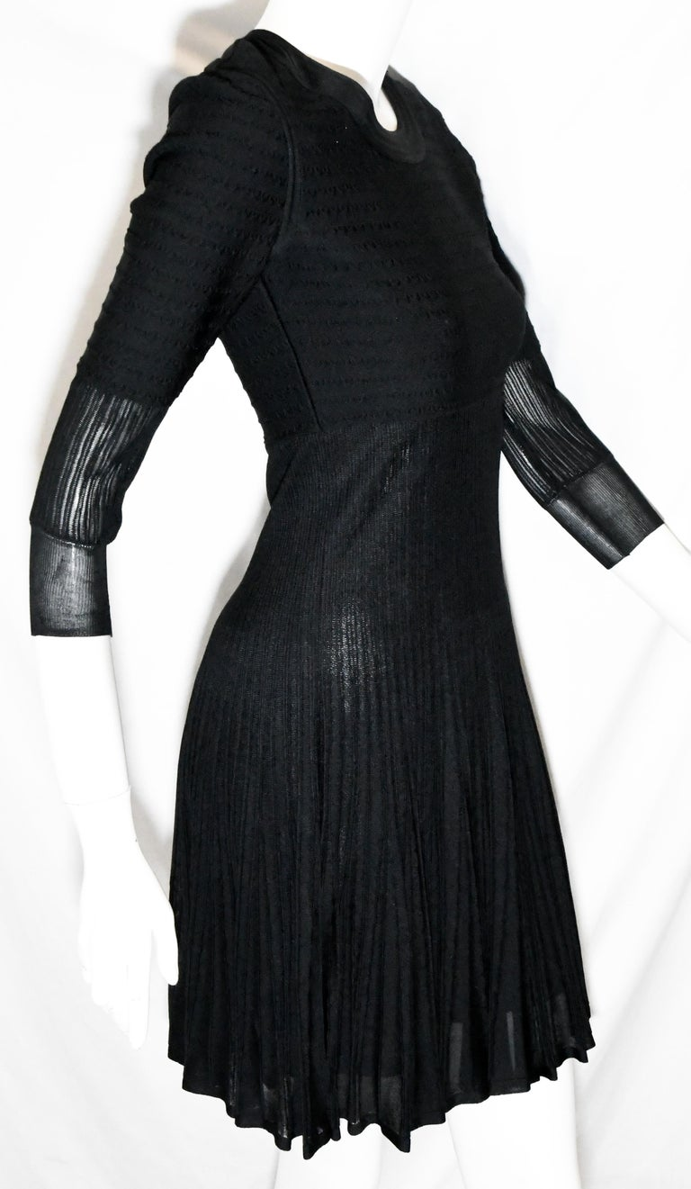 Women's Chanel Black Silk Long Sleeve From the 2009 Cruise Collection Dress For Sale