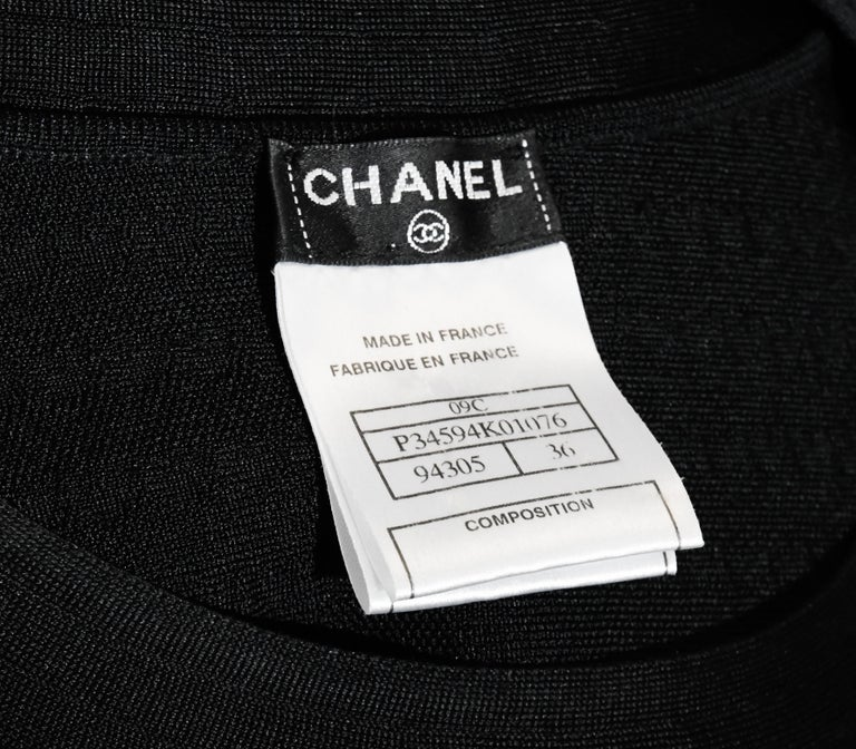 Chanel Black Silk Long Sleeve From the 2009 Cruise Collection Dress For Sale 1