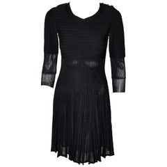 Chanel Black Silk Long Sleeve From the 2009 Cruise Collection Dress